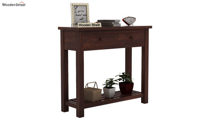 Wales Console Table (Walnut Finish)-1