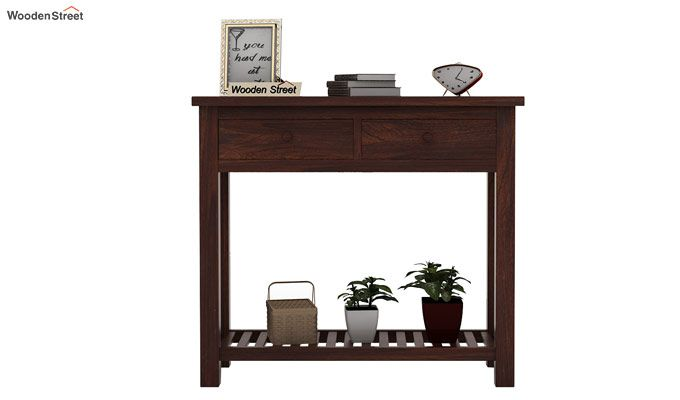 Wales Console Table (Walnut Finish)-2