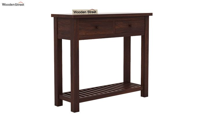 Wales Console Table (Walnut Finish)-3