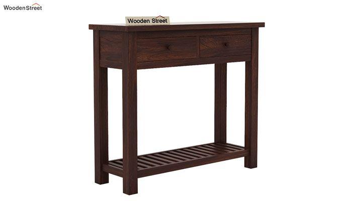 Wales Console Table (Walnut Finish)-3