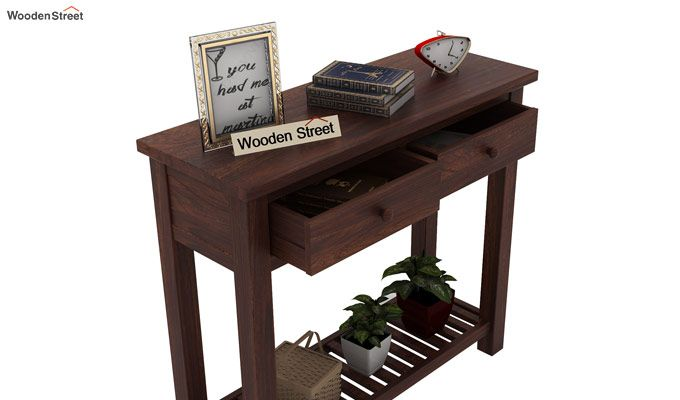 Wales Console Table (Walnut Finish)-4