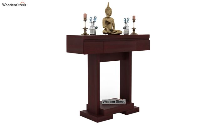 Whitaker Console Table (Mahogany Finish)-1