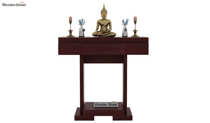 Whitaker Console Table (Mahogany Finish)-2