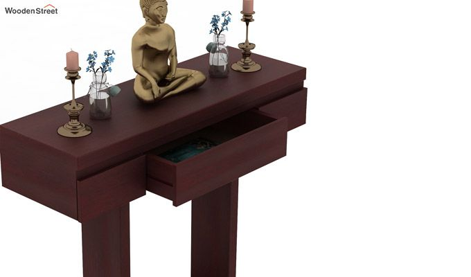 Whitaker Console Table (Mahogany Finish)-3