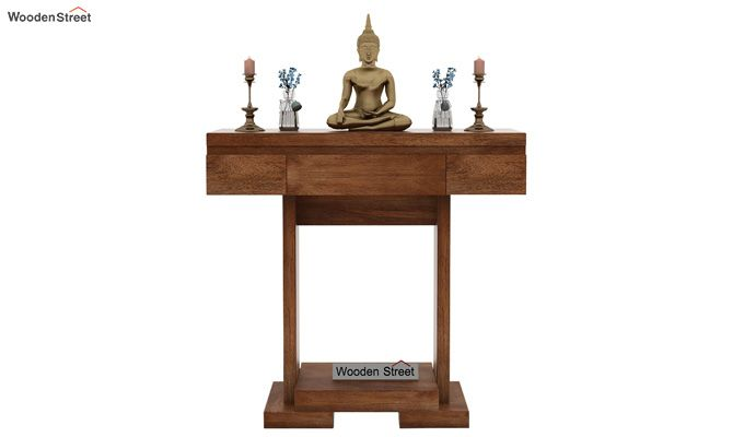 Whitaker Console Table (Teak Finish)-2
