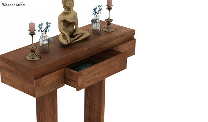 Whitaker Console Table (Teak Finish)-3