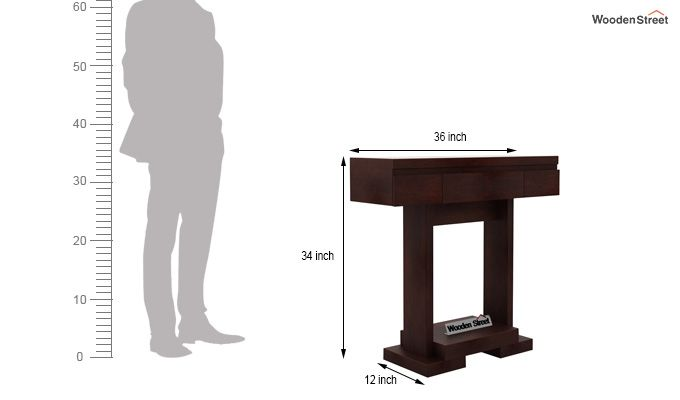 Whitaker Console Table (Walnut Finish)-6