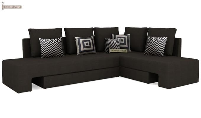 Mckellen L Shape Right Arm Corner Sofa Cum Bed (Brown)-2