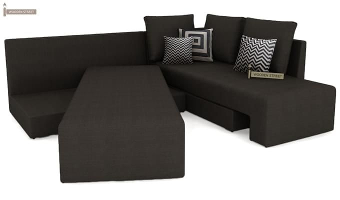 Mckellen L Shape Right Arm Corner Sofa Cum Bed (Brown)-4