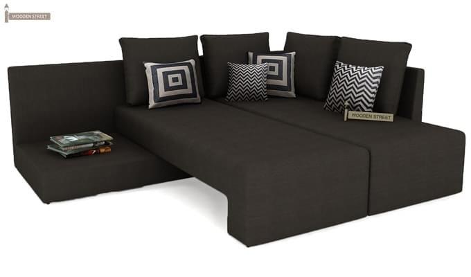 Mckellen L Shape Right Arm Corner Sofa Cum Bed (Brown)-5