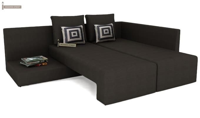 Mckellen L Shape Right Arm Corner Sofa Cum Bed (Brown)-6