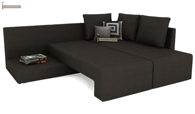 Mckellen L Shape Right Arm Corner Sofa Cum Bed (Brown)-7