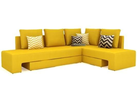 Mckellen l shape corner sofa Yellow