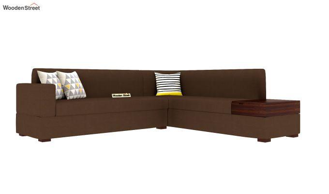 Argos L - Shape Left Arm Corner Sofa (Classic Brown)-2