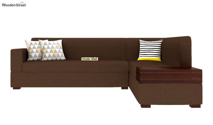 Argos L - Shape Left Arm Corner Sofa (Classic Brown)-3