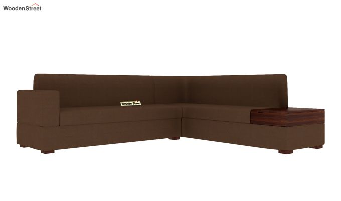 Argos L - Shape Left Arm Corner Sofa (Classic Brown)-4
