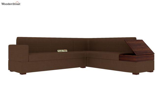 Argos L - Shape Left Arm Corner Sofa (Classic Brown)-5