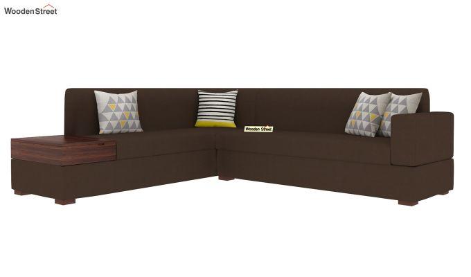 Argos L - Shape Left Aligned Corner Sofa (Classic Brown)-2