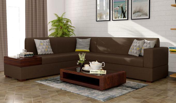 Argos L - Shape Left Aligned Corner Sofa (Classic Brown)-1