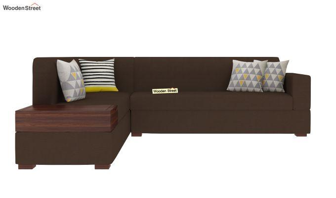 Argos L - Shape Left Aligned Corner Sofa (Classic Brown)-3