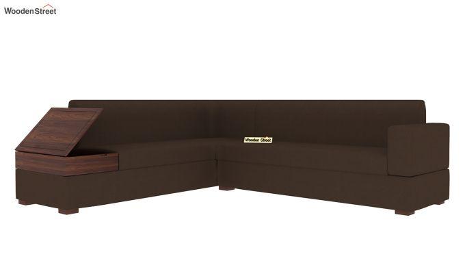 Argos L - Shape Left Aligned Corner Sofa (Classic Brown)-5