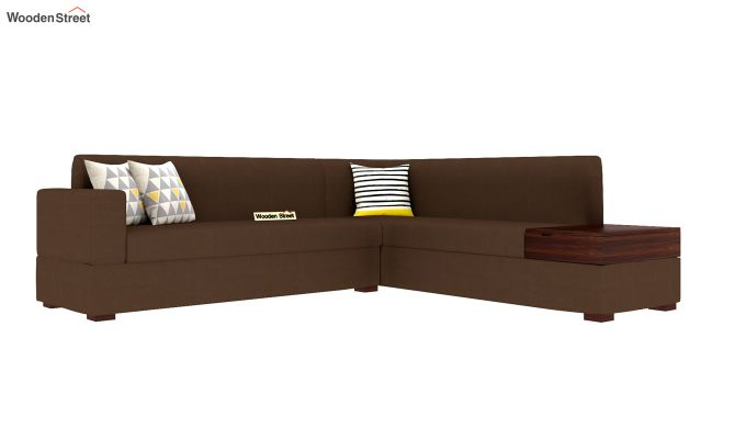 Argos L - Shape Right Aligned Corner Sofa (Classic Brown)-2