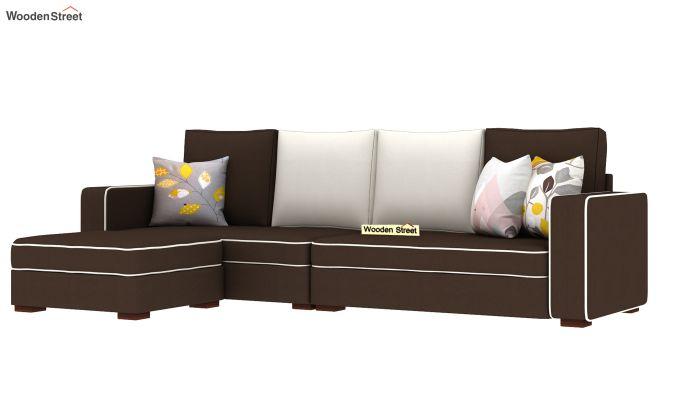 Delos L - Shape Left Aligned Corner Sofa (Classic Brown) (Classic Brown)-2