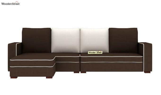 Delos L - Shape Left Aligned Corner Sofa (Classic Brown) (Classic Brown)-3