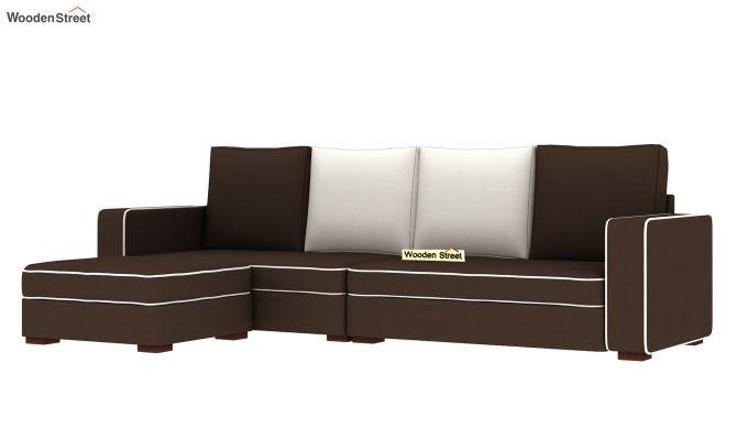 Delos L - Shape Left Aligned Corner Sofa (Classic Brown) (Classic Brown)-4