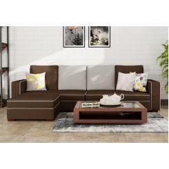 Delos L - Shape Left Arm Corner Sofa (Classic Brown)