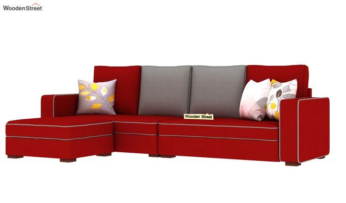Delos L - Shape Left Aligned Corner Sofa (Dusky Rose) (Dusky Rose)-2
