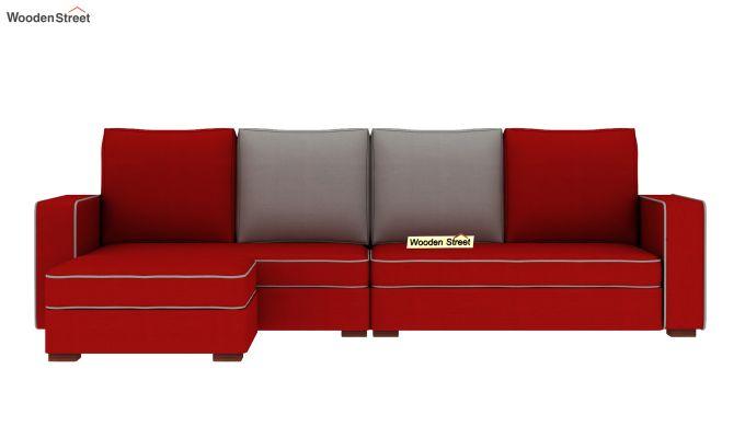 Delos L - Shape Left Aligned Corner Sofa (Dusky Rose) (Dusky Rose)-3