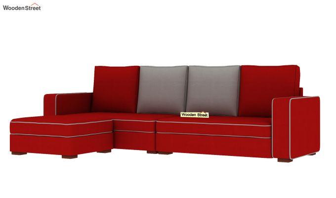 Delos L - Shape Left Aligned Corner Sofa (Dusky Rose) (Dusky Rose)-4