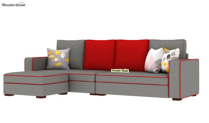 Delos L - Shape Left Arm Corner Sofa (Warm Grey) (Warm Grey)-2