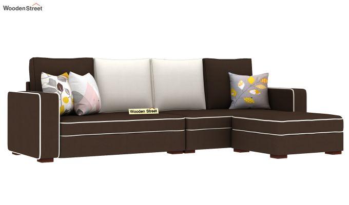 Delos L - Shape Right Aligned Corner Sofa (Classic Brown) (Classic Brown)-2