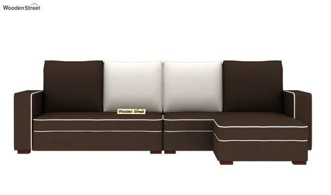 Delos L - Shape Right Aligned Corner Sofa (Classic Brown) (Classic Brown)-3