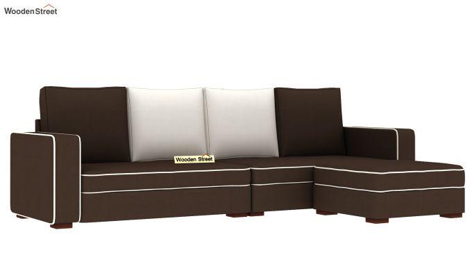 Delos L - Shape Right Aligned Corner Sofa (Classic Brown) (Classic Brown)-4
