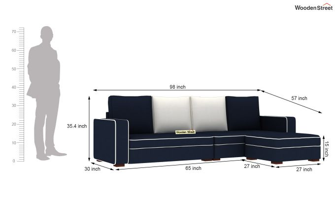 Delos L - Shape Right Aligned Corner Sofa (Indigo Ink) (indigo ink)-6