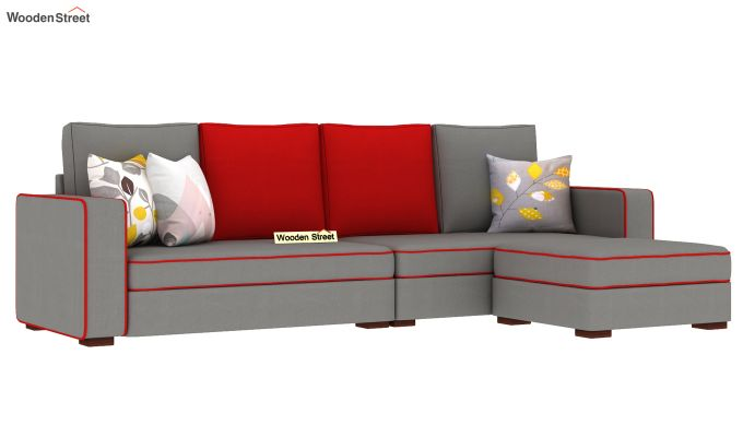 Delos L - Shape Right Aligned Corner Sofa (Warm Grey) (Warm Grey)-2
