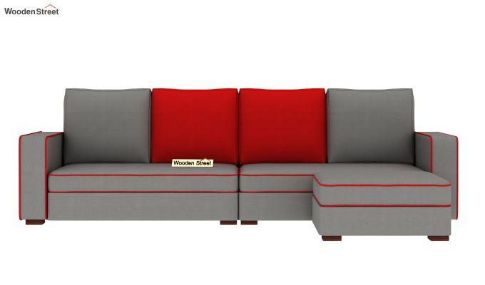 Delos L - Shape Right Aligned Corner Sofa (Warm Grey) (Warm Grey)-3