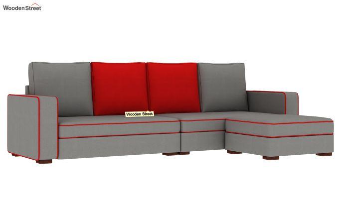 Delos L - Shape Right Aligned Corner Sofa (Warm Grey) (Warm Grey)-4