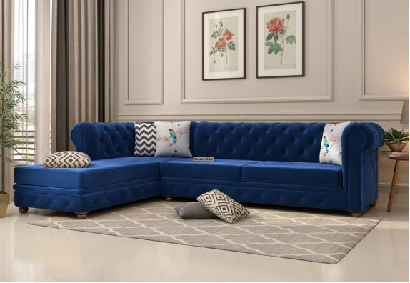 Buy Wooden L Shape Sofa In Hyderabad Online At Woodenstreet