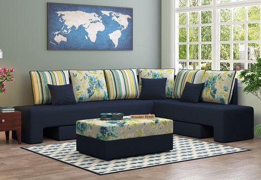 l shape corner sofa blue in bangalore