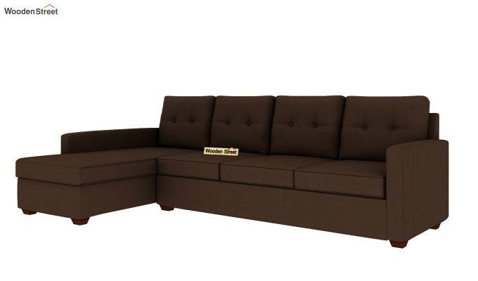 Nicolas 3 Seater L Shape Left Aligned Sofa (Classic Brown)-2