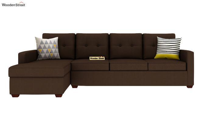 Nicolas 3 Seater L Shape Left Aligned Sofa (Classic Brown)-3