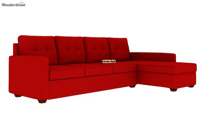 Nicolas 3 Seater L Shape Right Arm Sofa (Dusky Rose)-2