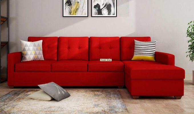 Nicolas 3 Seater L Shape Right Arm Sofa (Dusky Rose)-1