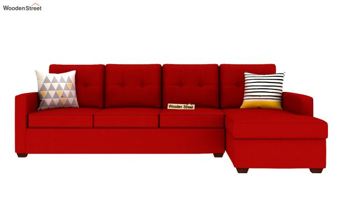 Nicolas 3 Seater L Shape Right Arm Sofa (Dusky Rose)-3