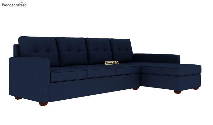 Nicolas 3 Seater L Shape Right Arm Sofa (Indigo Ink)-2