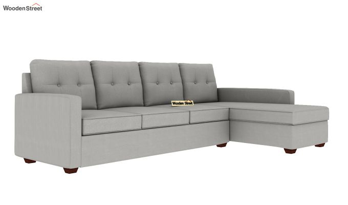 Nicolas 3 Seater L Shape Right Aligned Sofa (Warm Grey)-2